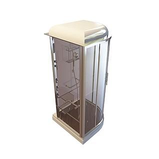扇形淋浴房3d模型