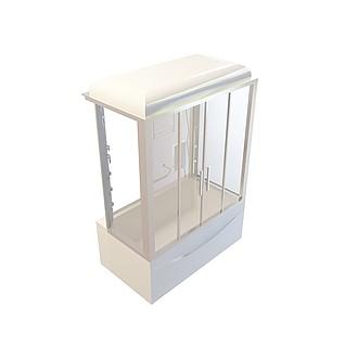 豪华淋浴房3d模型
