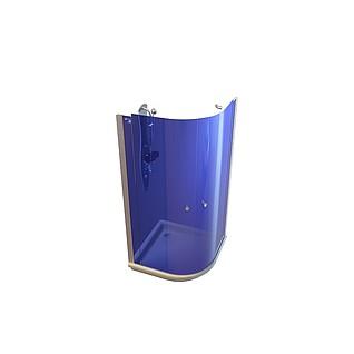 玻璃隔断高档沐浴房3d模型