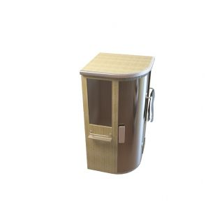 实木桑拿淋浴房3d模型