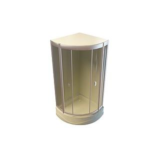 扇形浴室3d模型