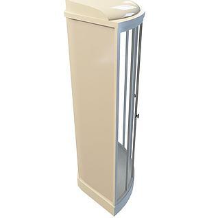 墙角扇形淋浴房3d模型