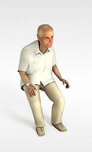 3d老年男人模型