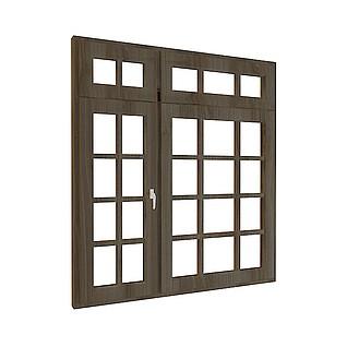 方格镂花窗3d模型