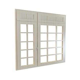 实木镂花窗3d模型