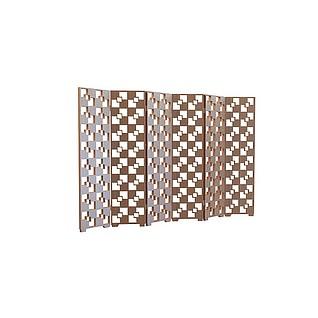方格镂空折叠隔断3d模型