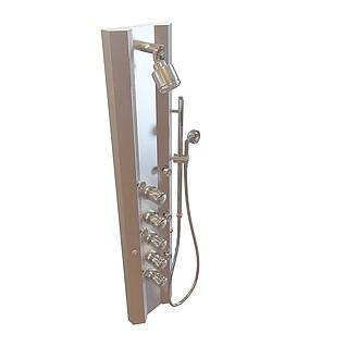 水压淋浴喷头3d模型