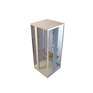 方形洗澡间3d模型