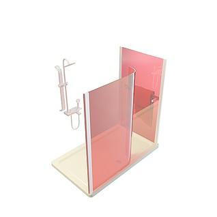 红色淋浴房3d模型