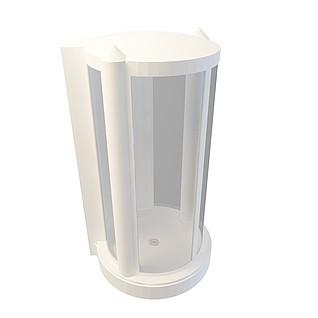 白色淋浴房3d模型