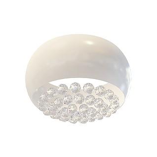 现代白色吸顶灯3d模型
