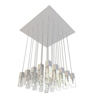 方形节能吸顶灯3d模型
