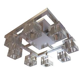 方形中式吸顶灯3d模型