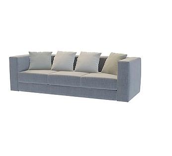 浅灰布艺三人沙发