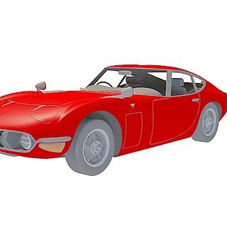 红色跑<font class='myIsRed'>车</font>3d模型