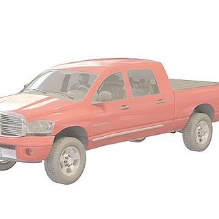 红色小皮卡车3d模型
