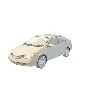 尼桑<font class='myIsRed'>汽车</font>3d模型