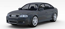 奥迪小轿车3d模型