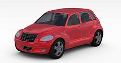 红色轿车模型3d模型