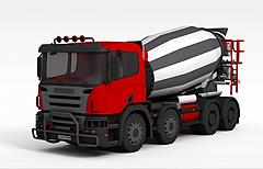 搅拌车3D模型3d模型