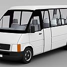 白色面包车模型