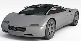 奥迪概念跑车3d模型