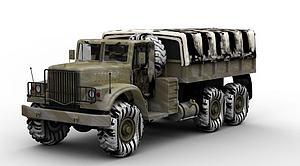 3d军用<font class='myIsRed'>货车</font>模型