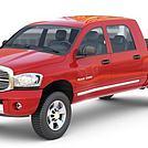 红色小皮卡车模型