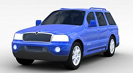 蓝色SUV<font class='myIsRed'>汽车</font>3d模型