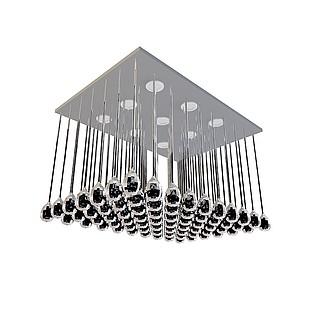 方形水晶吸顶灯3d模型