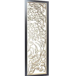 金色龙纹隔断3d模型