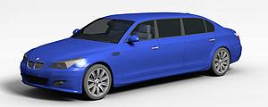 3d加长宝马轿车模型