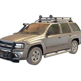 雪弗兰越野车3d模型