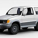 SUV越野车模型