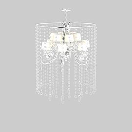 精品水晶多头吊灯3d模型