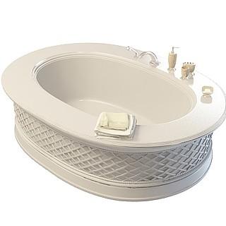 艺术雕花浴缸3d模型
