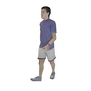 休闲男孩3d模型