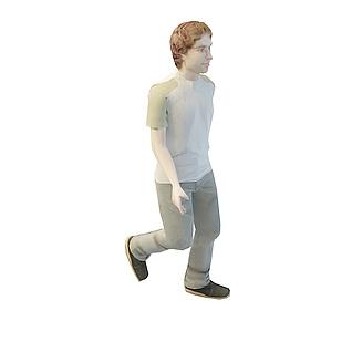 金发男人3d模型