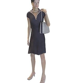 时尚女人3d模型