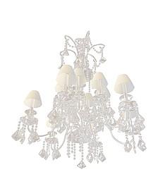水晶挂帘吊灯3d模型