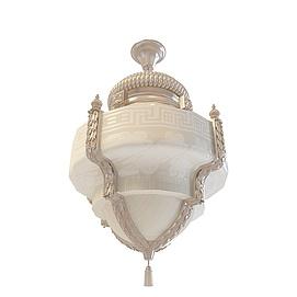 新中式奢华吊灯3d模型