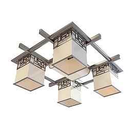 中式客厅吊灯3d模型