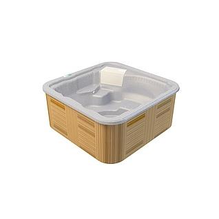 木质多人浴缸3d模型