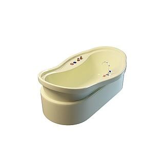 带底座浴缸3d模型