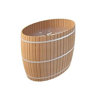 中式复古浴桶3d模型