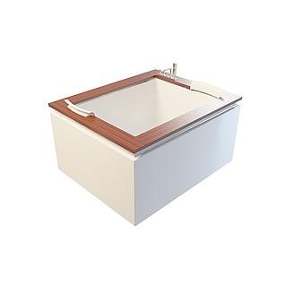 创意方形浴缸3d模型