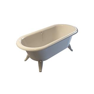 U形浴缸3d模型