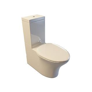 耐脏型坐便器3d模型
