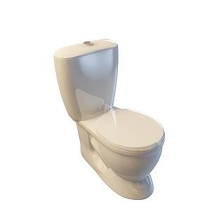家用马桶3d模型
