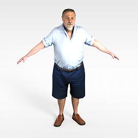 白胡子老人模型